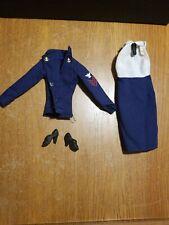 Vintage Mego Wonder Woman Linda Carter Navy Uniform Blouse & Jacket