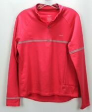 Hind Womens Pink Long Sleeve 1/4 Zip Pullover Size Large
