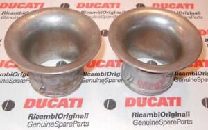 2002-era Ducati 748 996 ST3 PAIR intake velocity stacks 802110091A = 13520101A