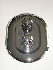 2 manera ducha termostática Mezcladora Grifo Grifos Válvula, Oval Redondo Estilo, Cromo, 063N