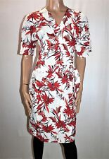 Marks & Spencer White Floral Short Sleeve Wrap Around Dress Size 10 BNWT #TF95