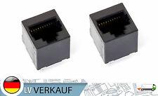 2 Stück RJ45 Buchse Lötbuchse black nicht geschirmt für PCB Prototypig 8P8C