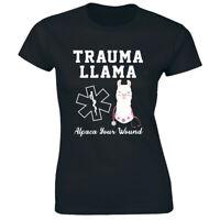 Nurse Trauma Llama Alpaca Your Wound Funny Women's T-Shirt RN Registered Nurse