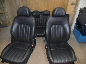 Peugeot 407 SW 6E Ledersitze Sitzgarnitur vorne hinten Schwarz Sitzheizung