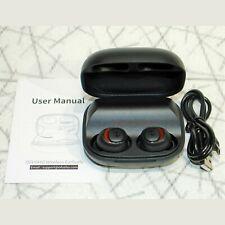 Ofusho True Wireless Earbuds F16 Bluetooth Headphones Hands Free Ipx7 Black