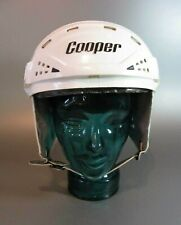 "Vintage Cooper XL7 S White Small Ice hockey helmet  Size : 6½"" - 7"" 1990 rare"