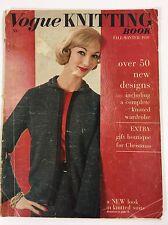 Vogue Magazine Knitting Book Fall & Winter 1959 Fun Pattern Designs 50+ Vintage