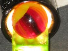 HTF in Red Glass Helmet Vintage Vitro Agate Glass Marble Marbles