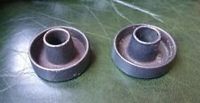 Pair small heavy vintage Antique old Iron Candle sticks Holders. Plain basic