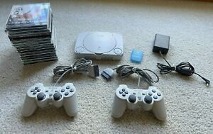 Sony Playstation PSOne Slim SCPH-101 Bundle 14 Games 2 Controllers Fully Tested
