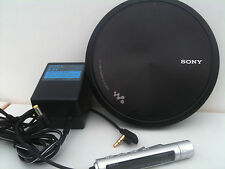 Sony D-EJ955 CD Player Discman CD Walkman Tragbaren remote,wall power,black