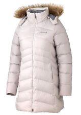 MARMOT WOMENS QUEBEC PARKA 700 GOOSE DOWN COAT WHITESTONE JACKET #96420 Sz M