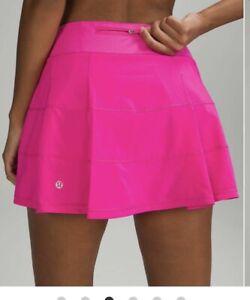 NEW LULULEMON Pace Rival Skirt LONG/TALL  8 Pow Pink FREE SHIP