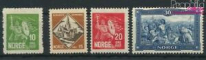 Norway 155-158 (complete issue) with hinge 1930 Olaf II. (9349364