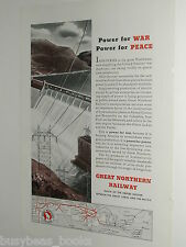 1943 Great Northern Railway advertisement, dam electric power, hydro-electric