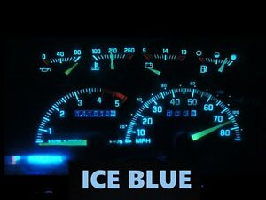 Gauge Cluster LED Dashboard Bulbs Ice Blue For Chevy GMC  92 94 C/K Truck