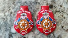 Vintage 1950's Tin SEA CAPTAIN clicker Red Badge Shield Made in Japan