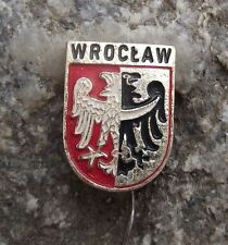 Wroclaw Polish City Poland Heraldic Crest Eagle Coat of Arms Shield Pin Badge