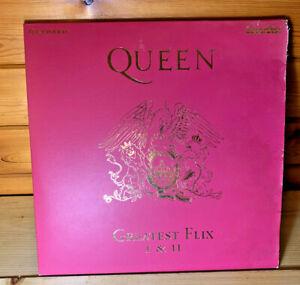 QUEEN PAL Laserdisc GREATEST FLIX I & II poor condition sleeve but discs good
