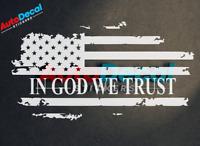 In God We Trust Flag Usa Vinyl Window Decal Sticker Jesus Love car Truck #437