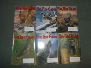 FULL YEAR OF FUR FISH GAME MAGAZINE 2006, TRAPPING, HUNTING & FISHING.