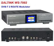Original SATLINK WS-7992 Modulator 2 Route Input Modulator HD DVB-T Modulator RF