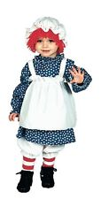 NEW Raggedy Ann 4 Pc Costume *Officially Licensed* Toddler 2-4 (2T-4T)