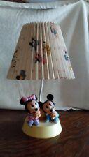 MICKEY & MINNIE MOUSE NURSERY LAMP W/ NIGHTLIGHT by Dolly Inc.