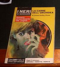 GIALLO I NERI MONDADORI nr. 21 HADLEY CHASE LA CARNE DELL'ORCHIDEA 1966