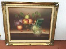 Still life fruit oil on Canvas signed