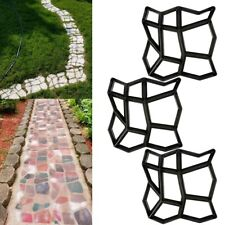 3pcs Stepping Stone Path Walk Maker Driveway Paving Pavement Mold Patio Concrete