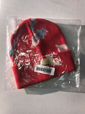 New Supreme Splatter Dyed Red Beanie One Size Hat with Tags SS20