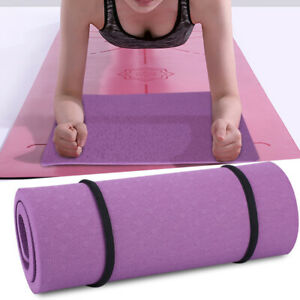 Padded Exercise Mat Extra Thick Fitness Yoga Pilates Gym Workout Hot Yoga Mat