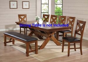 Kitchen Dining Room Simple Contemporary Dining Chairs Walnut & Espresso PU Chair