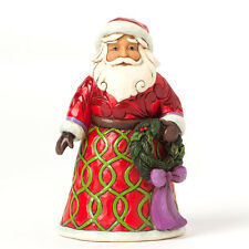 Enesco Jim Shore Pint Sized Santa With Wreath NIB  Item # 4041072