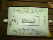 Antique Maddock & Co Ironstone Tureen w/ Daisys Burslem England