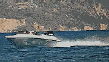 """Speedboat sul mare contato CROSS STITCH KIT 12 """"X 6,75"""" 30,5 CM x 17cm t4122"""