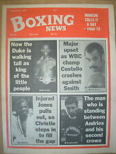 BOXING NEWS AUGUST 30 1985 DUKE McKENZIE MAINTAINS FAMILY TRADITION
