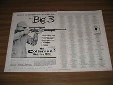 1958 Vintage Ad Colt Coltsman Sporting Rifles Hartford,CT