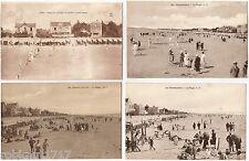 LOT 4 CPA postcards Beach at low tide Plage à marée basse CHATELAILLON 17 A