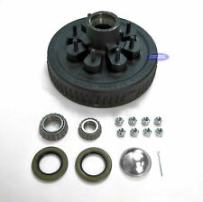 "(2) Trailer Brake Drum Hub 8 Lug 12 x 2 1 1/4""(14125A) x 1 3/4""(25580) Bearings"