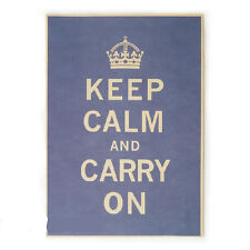 Keep Calm And Carry On Vintage Poster Motivational Quote Saying Gifts P12 12x16""