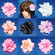 2pc PRETTY 8cm HAIR FLOWER ELASTIC HAIR BAND PONIO PONYTAIL HAIRBAND PONY TAIL