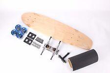 "32"" Natural Mini Kicktail Blank Clear Blue wheels Complete Longboard Kit"