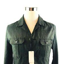 Calvin Klein Military Khaki Olive Green Zip Shirt Jacket Mens Sz US L UK XL