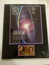 Star Trek Generations Plaque With Gold Colored Stamp