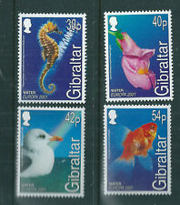 Gibraltar 2001 Europa - Water & Nature set of 4 unmounted mint