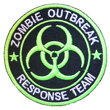 Ecusson patche ZOMBIE outbreak thermocollant patch zombies