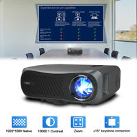 EUG Native 1080P Projector Home Cinema Theater Outdoor Movie 8500lm HDMI TV AU