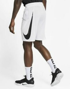 Nike Dri-FIT Men's Basketball Shorts White Size UK M *REF65